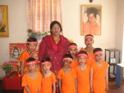 Aama and the little ones traditional dress for Shiva Day